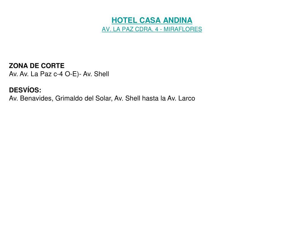 HOTEL CASA ANDINA
