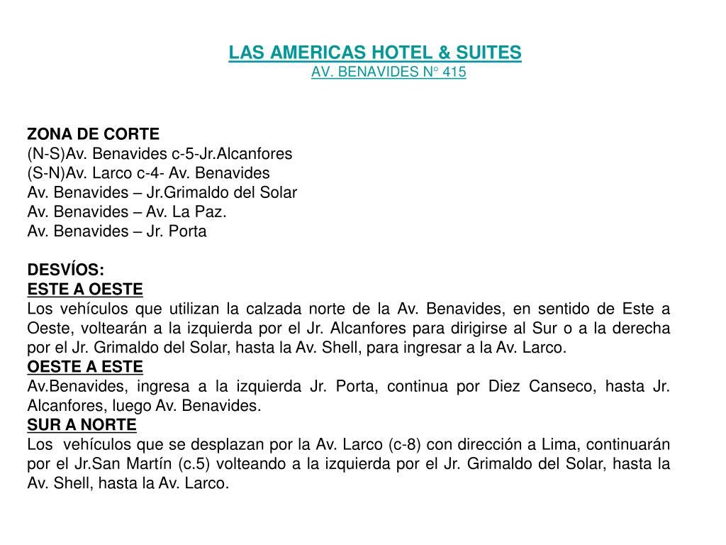LAS AMERICAS HOTEL & SUITES