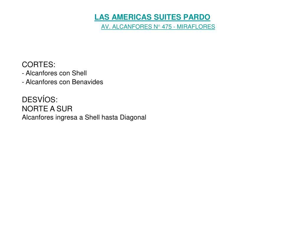 LAS AMERICAS SUITES PARDO