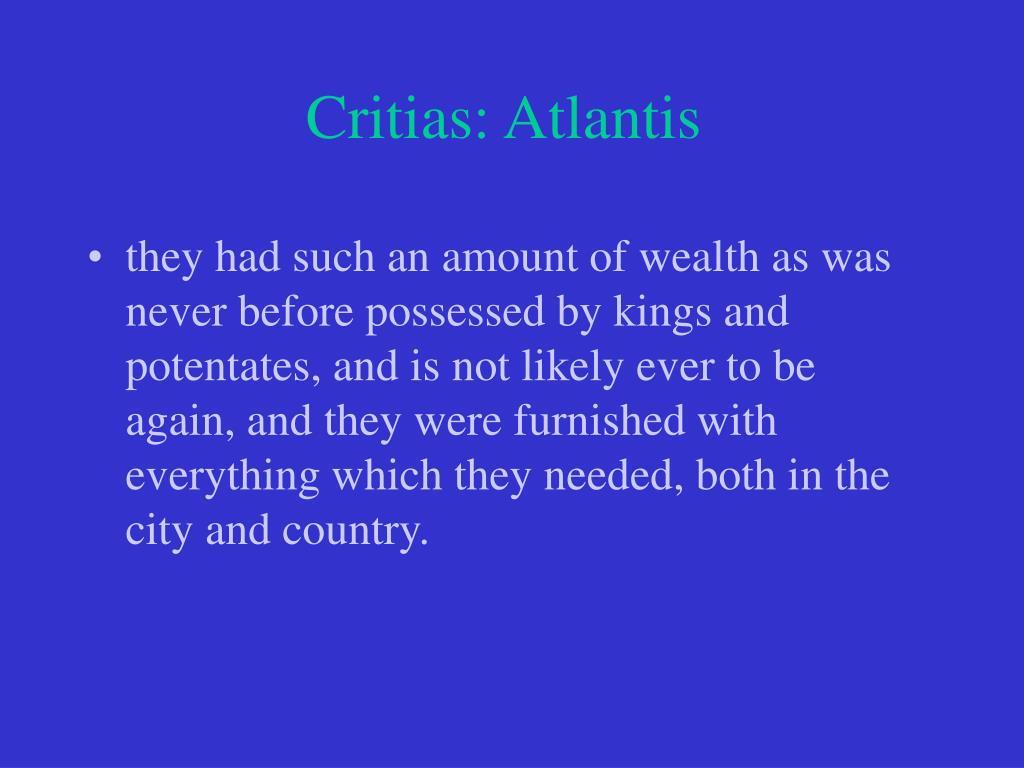 Critias: Atlantis