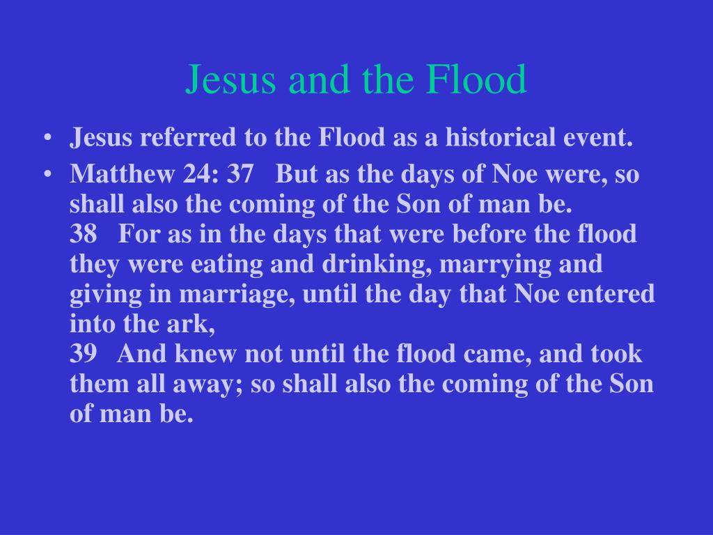 Jesus and the Flood