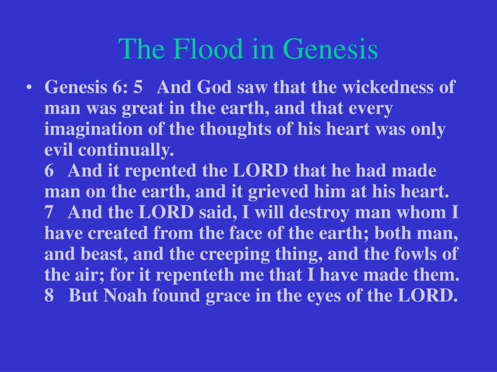 The Flood in Genesis