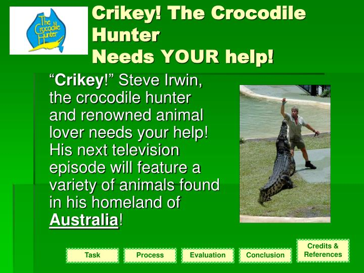 Crikey! The Crocodile Hunter