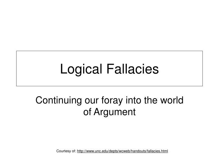 Logical fallacies l.jpg