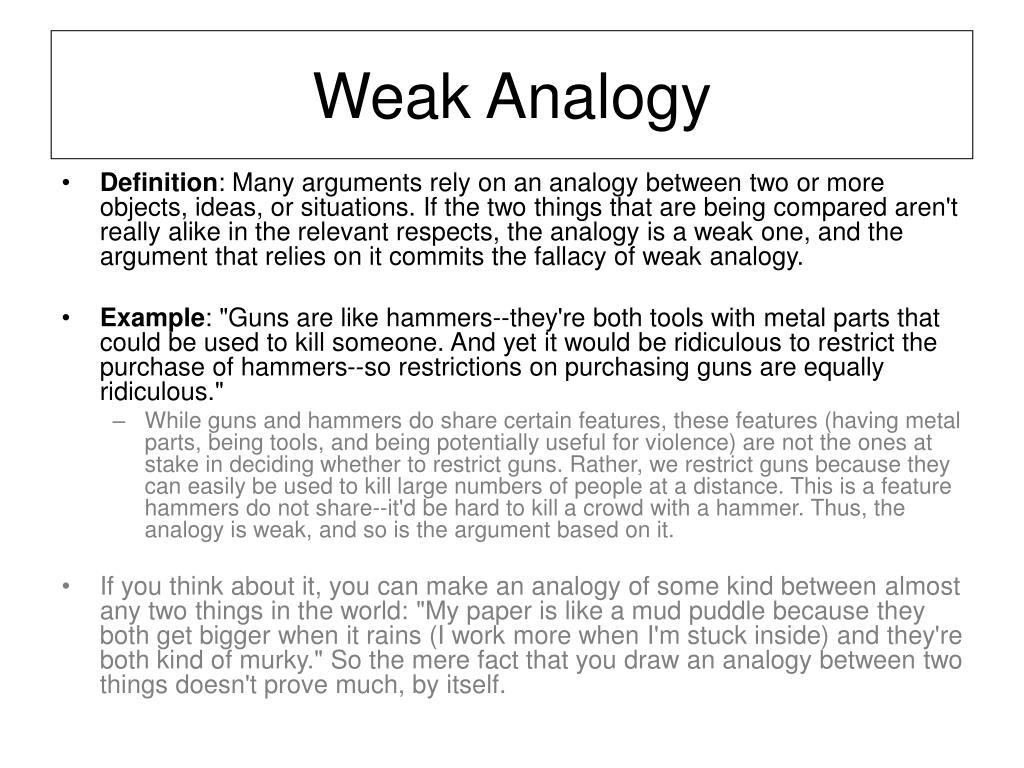 Weak Analogy