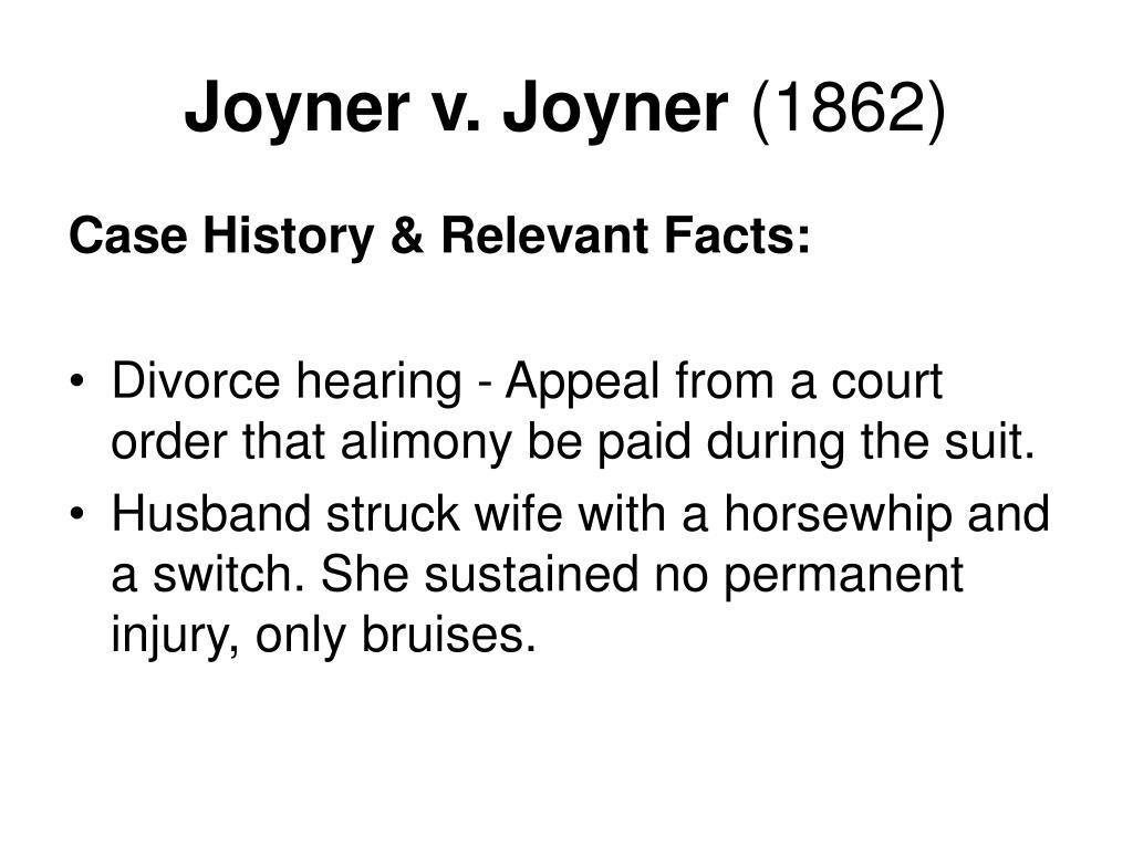 Joyner v. Joyner