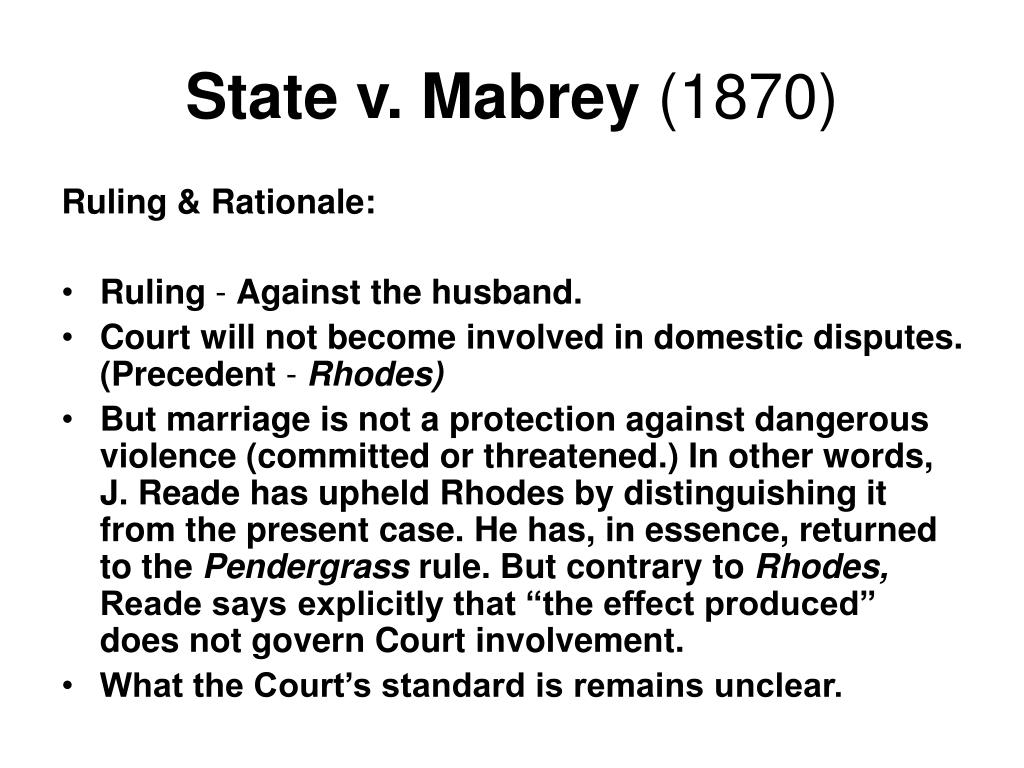 State v. Mabrey