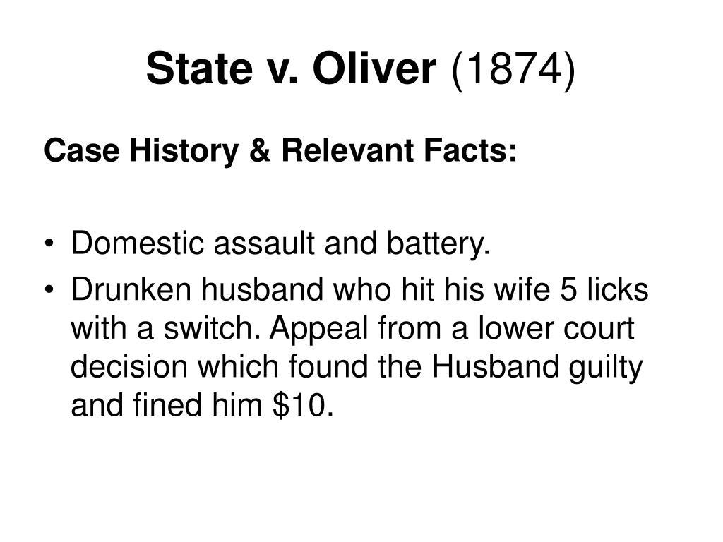 State v. Oliver