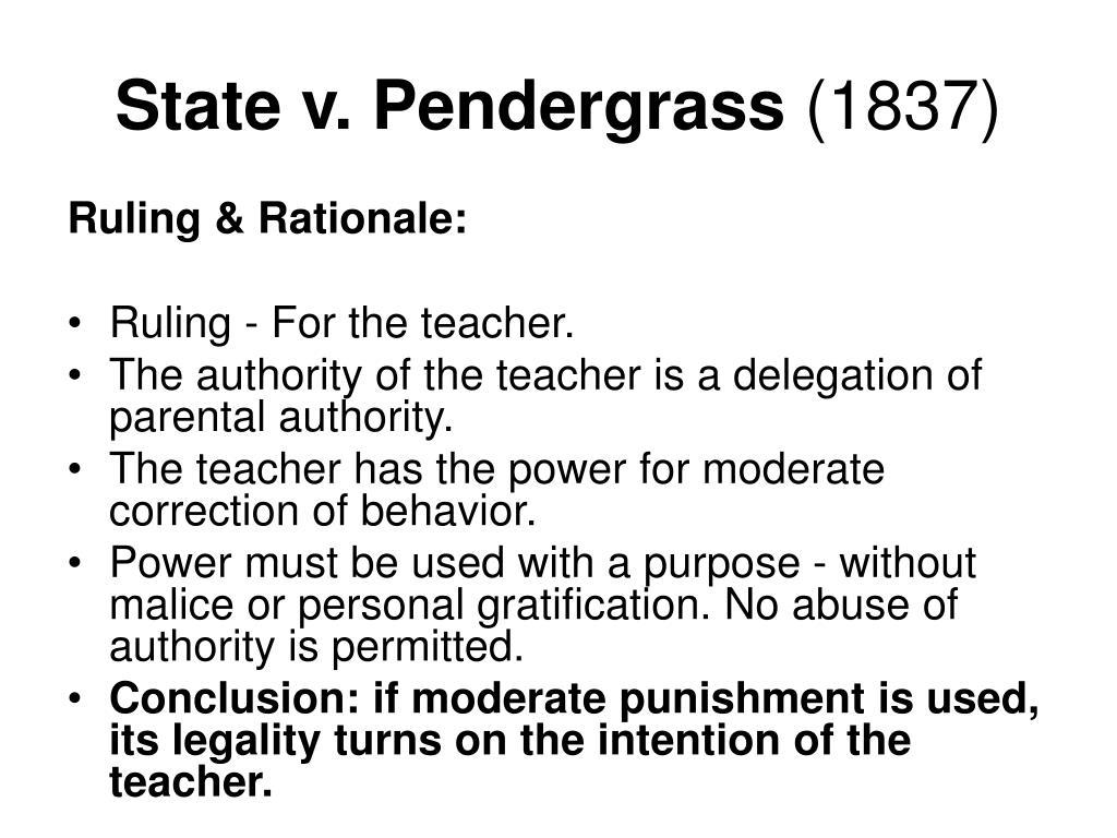 State v. Pendergrass