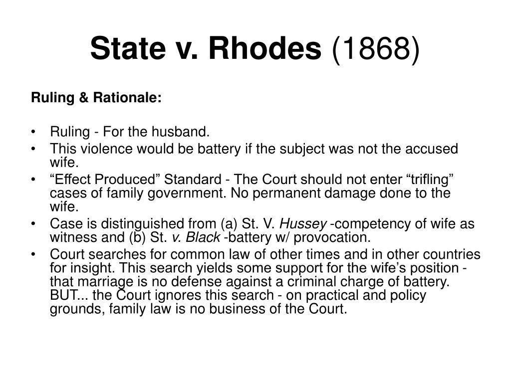 State v. Rhodes
