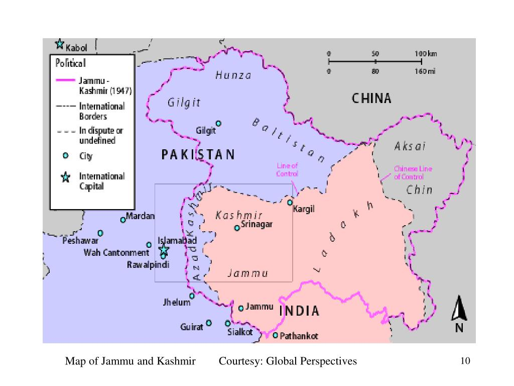 Map of Jammu and Kashmir        Courtesy: Global Perspectives
