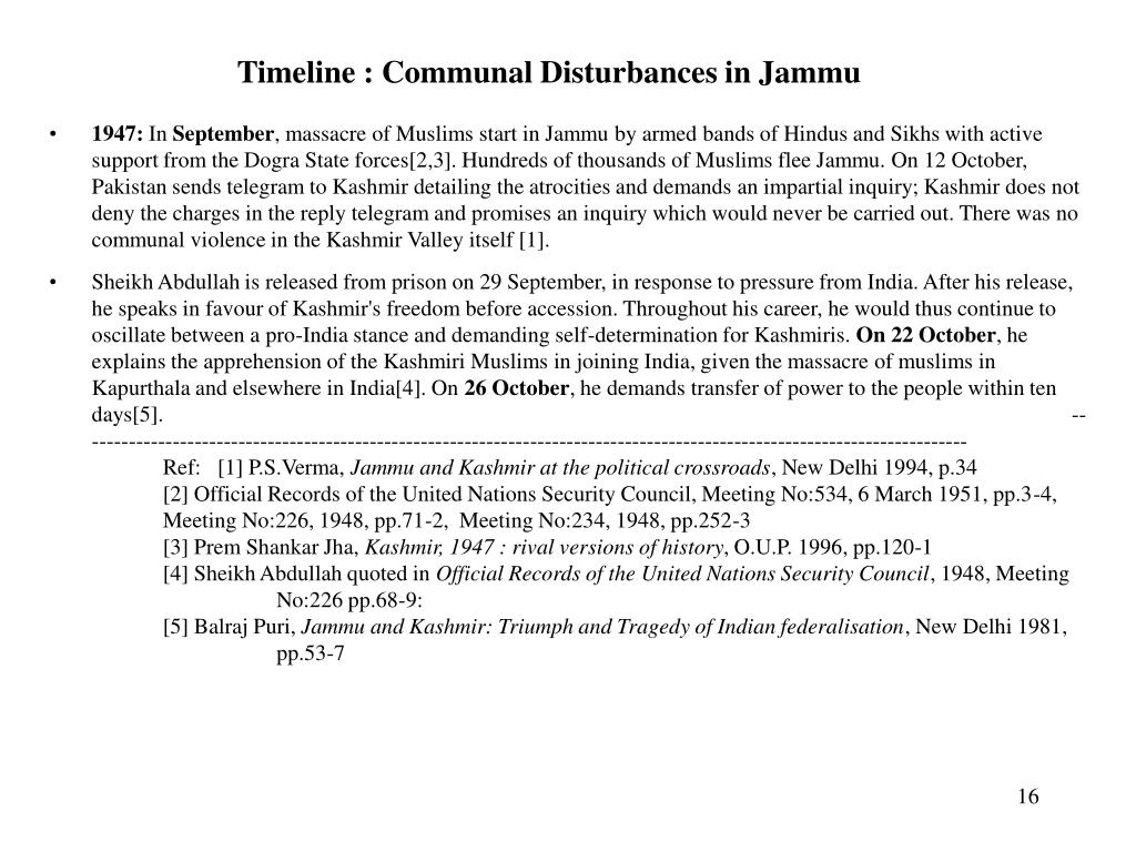 Timeline : Communal Disturbances in Jammu