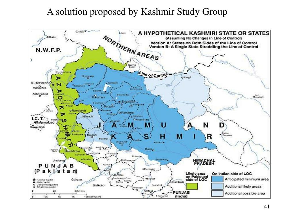 A solution proposed by Kashmir Study Group