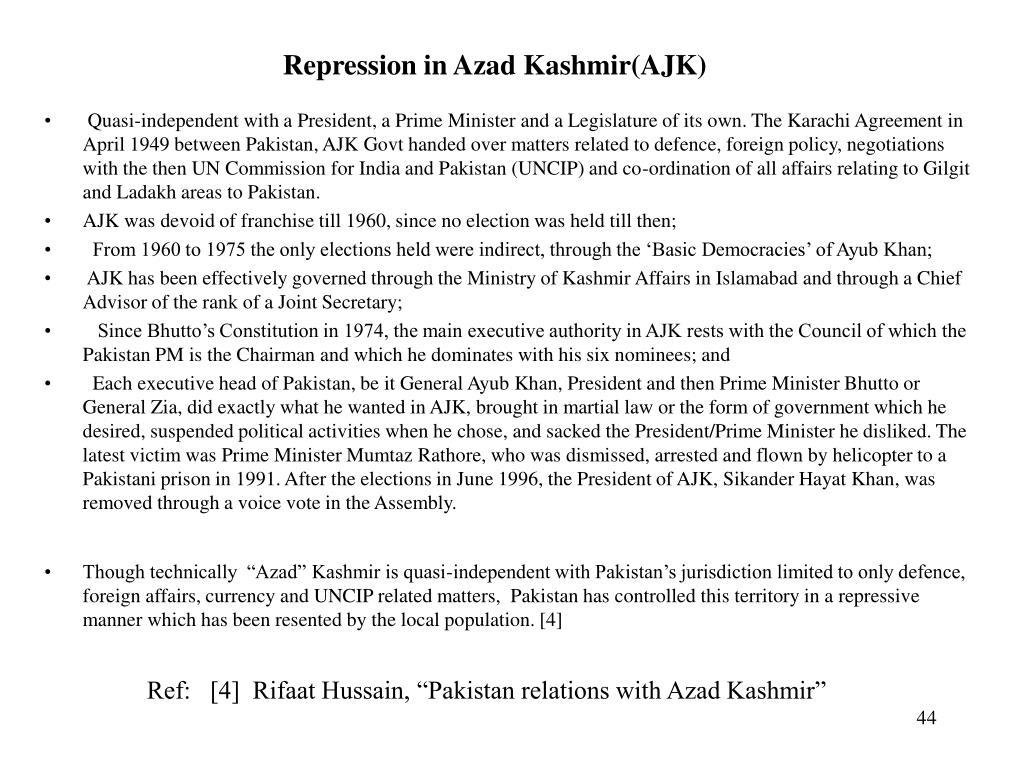 Repression in Azad Kashmir(AJK)
