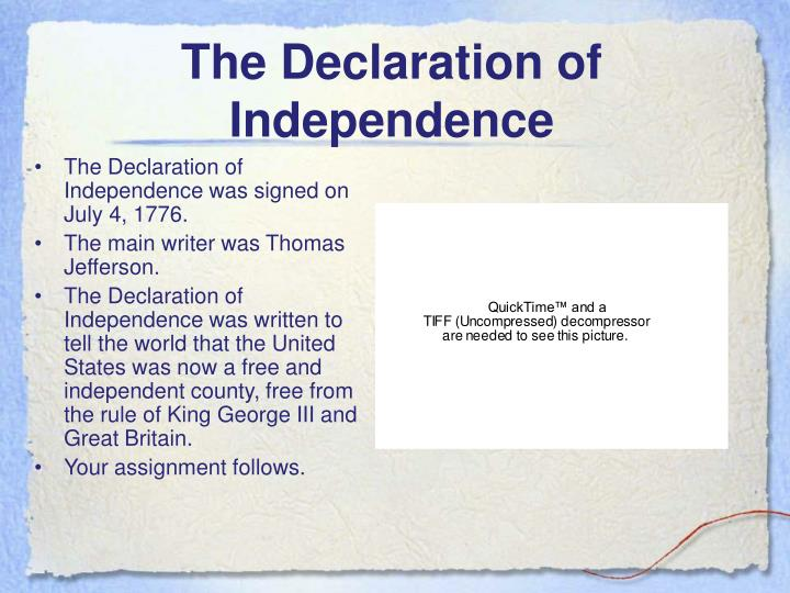 thesis about declaration of independence