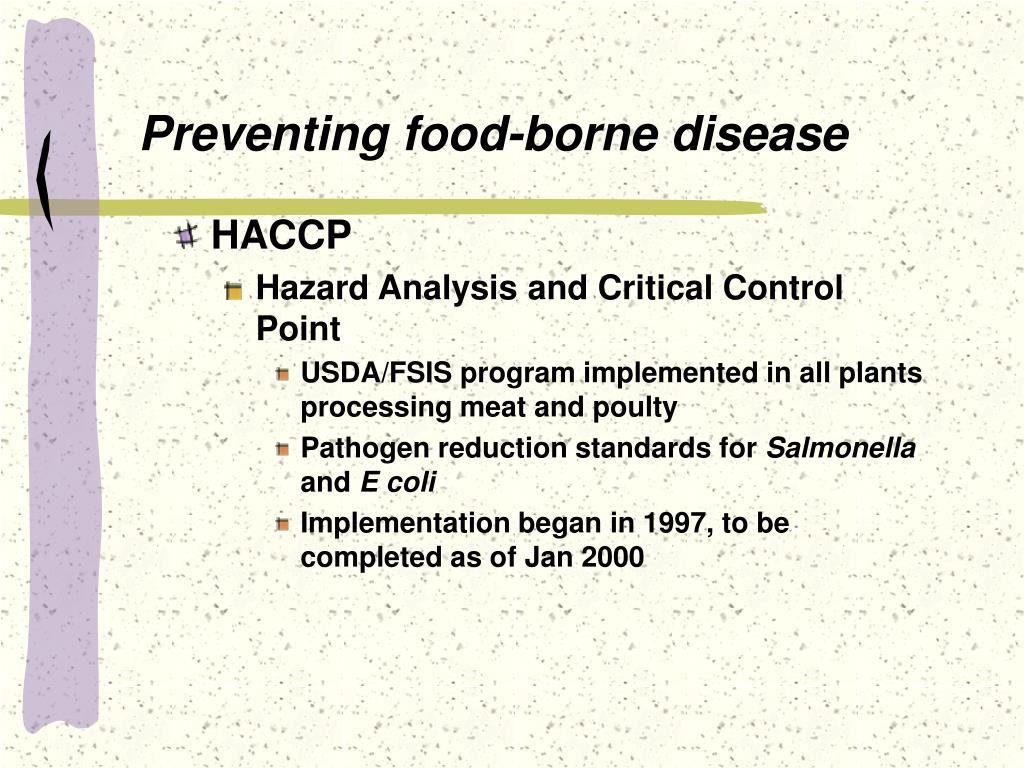 Preventing food-borne disease