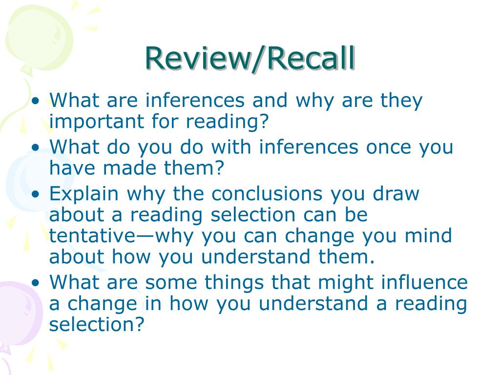 Review/Recall