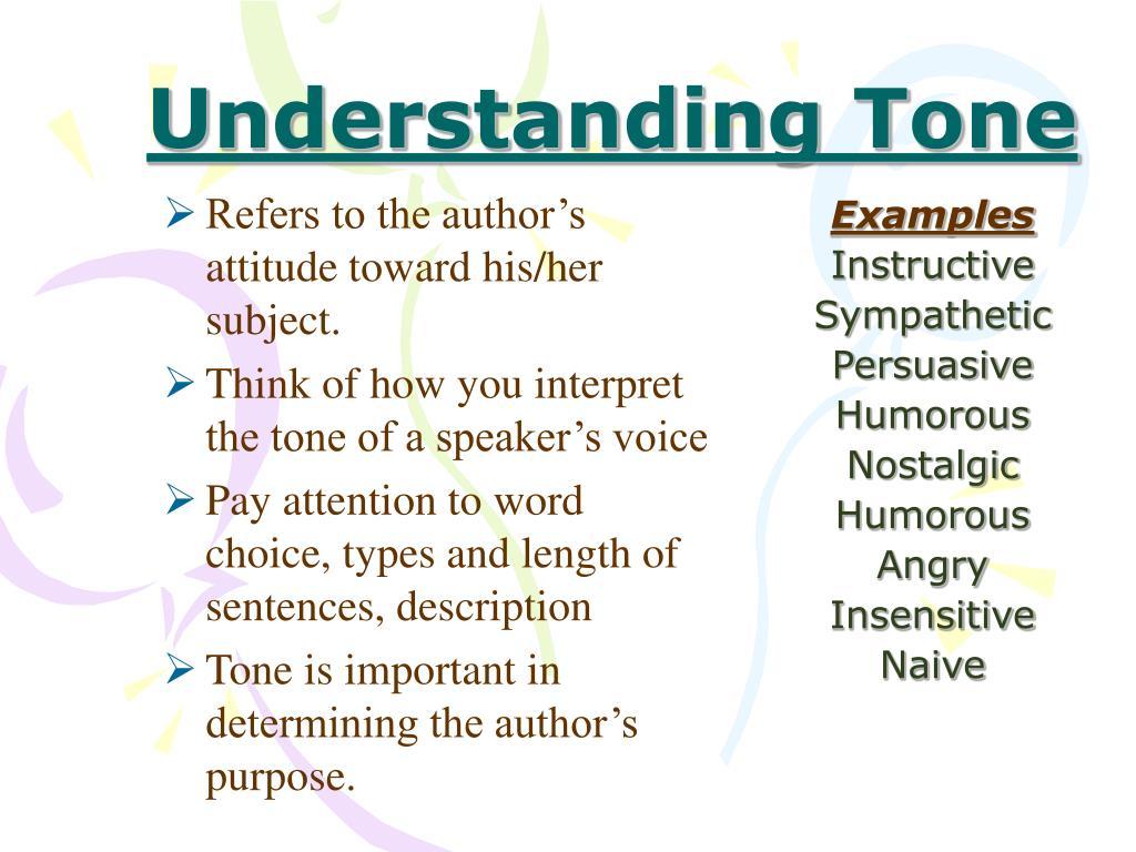 Understanding Tone