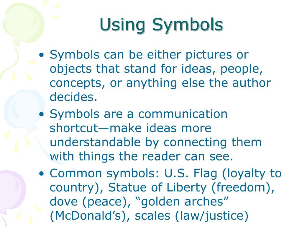 Using Symbols