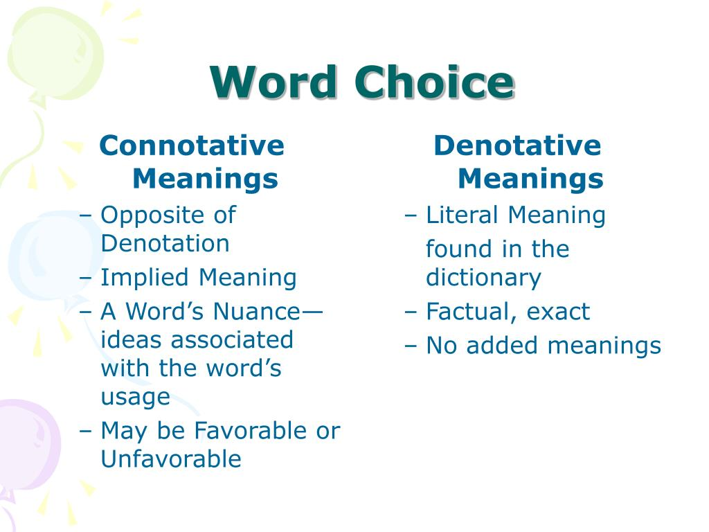 Connotative Meanings