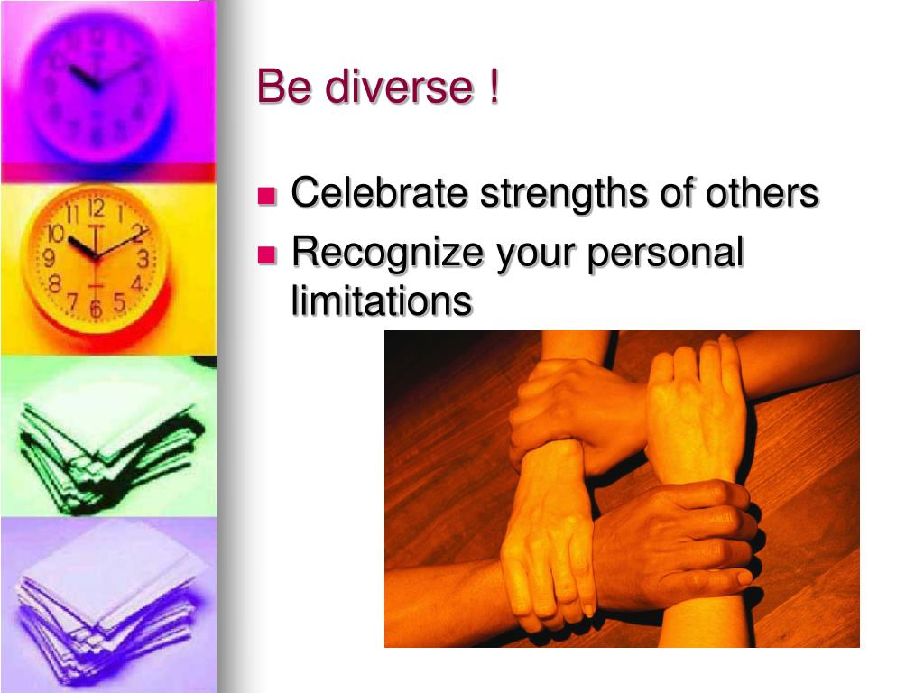 Be diverse !