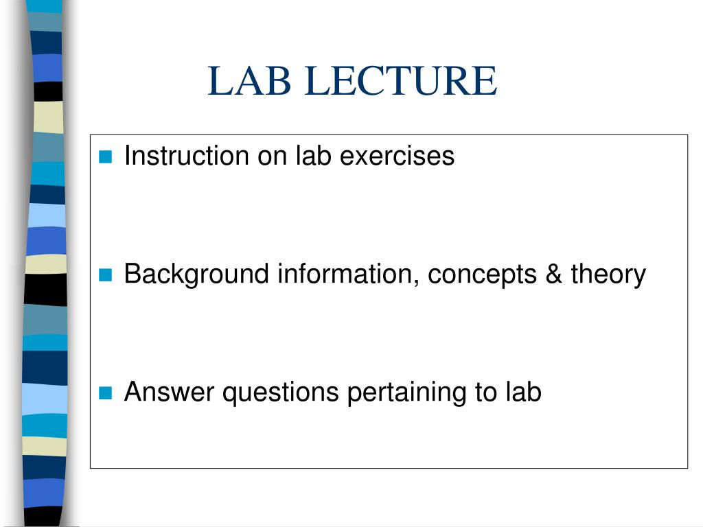 LAB LECTURE