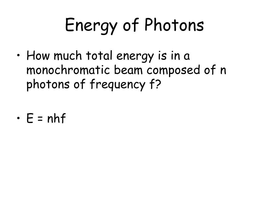Energy of Photons