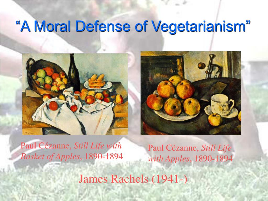 """A Moral Defense of Vegetarianism"""