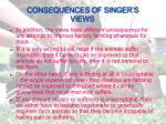 consequences of singer s views