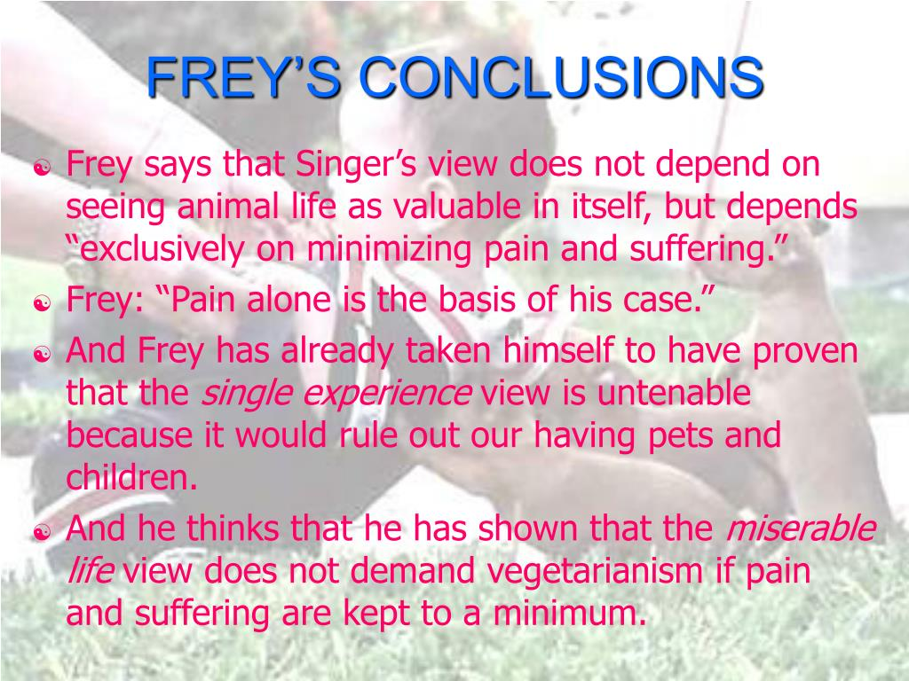 FREY'S CONCLUSIONS