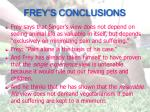 frey s conclusions