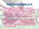 kant and animals iii