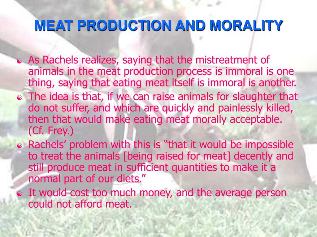 MEAT PRODUCTION AND MORALITY