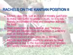 rachels on the kantian position ii