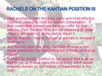 rachels on the kantian position iii