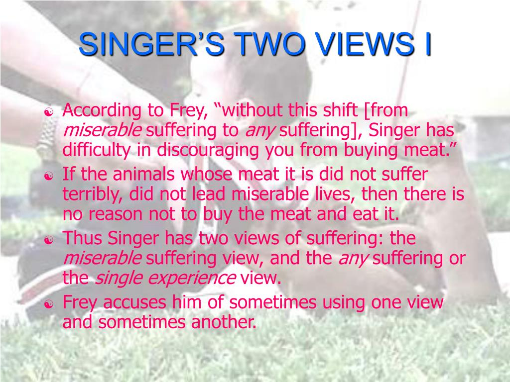 SINGER'S TWO VIEWS I
