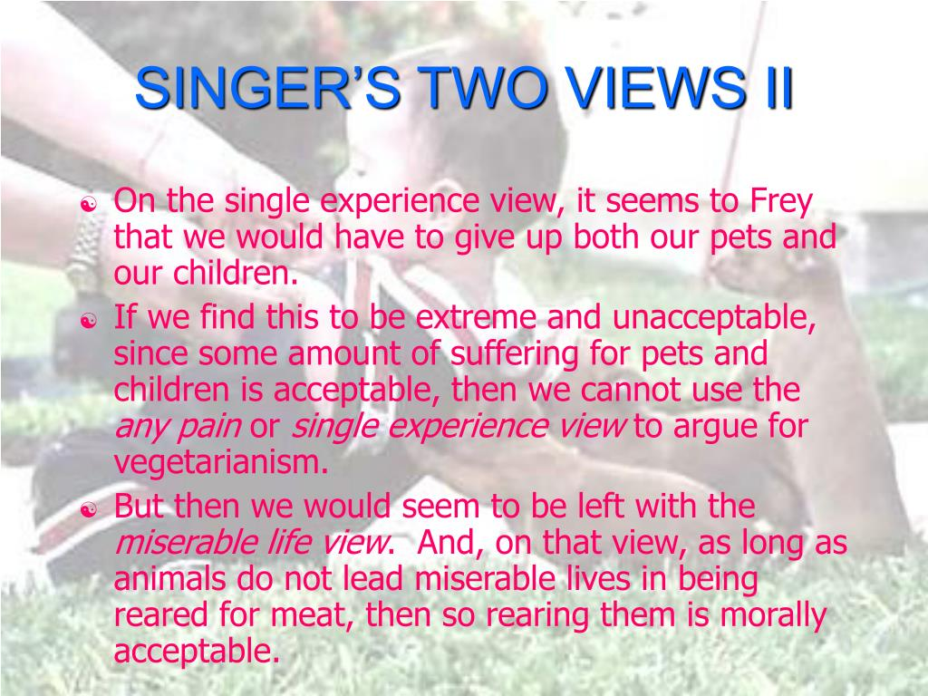 SINGER'S TWO VIEWS II