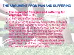 the argument from pain and suffering