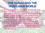 the human and the nonhuman world