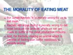 the morality of eating meat