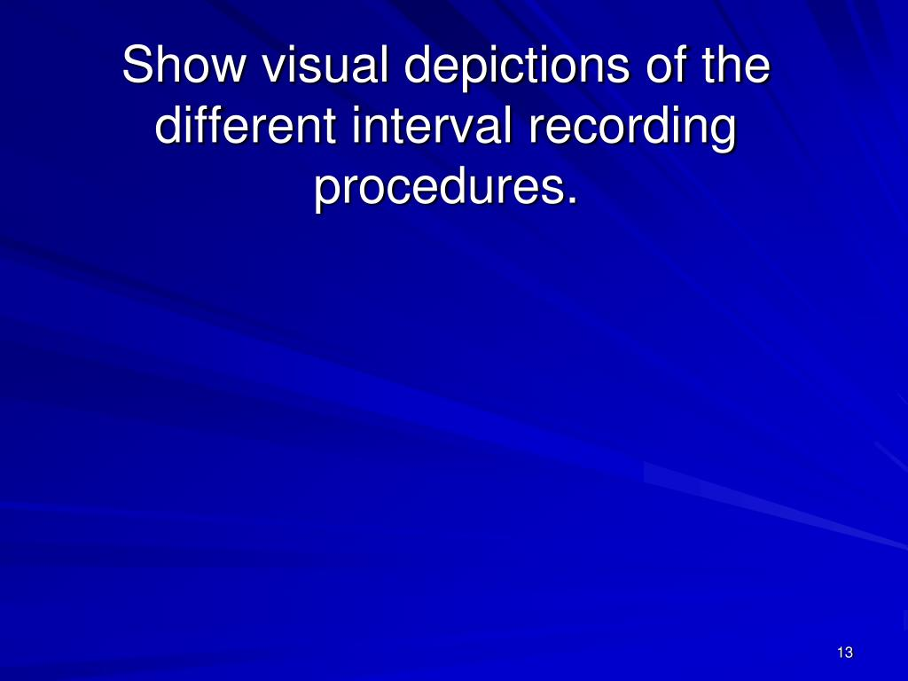 Show visual depictions of the different interval recording procedures.