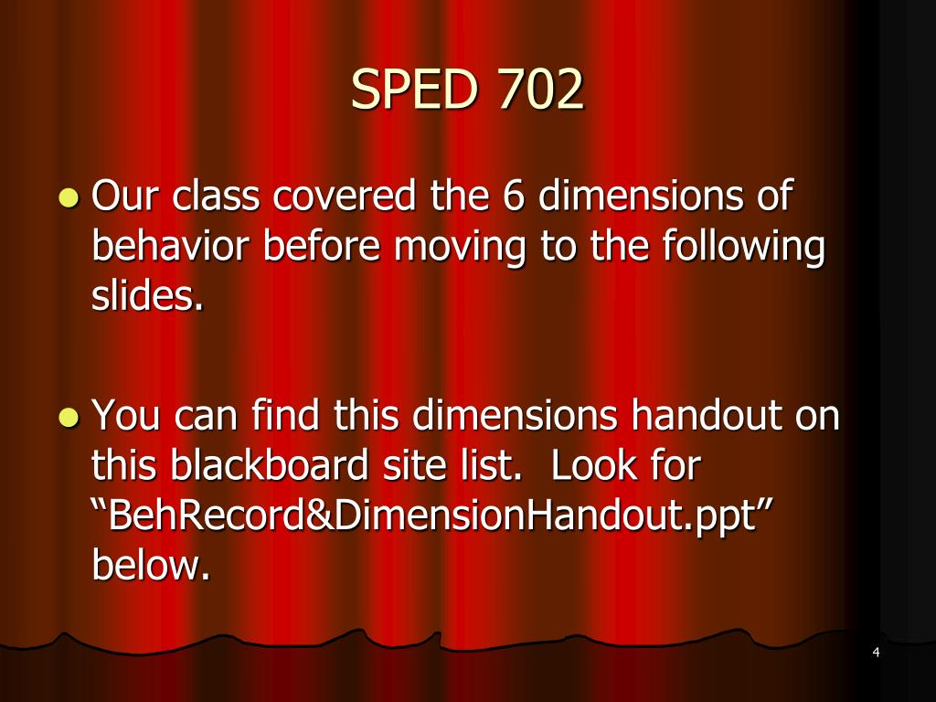 SPED 702