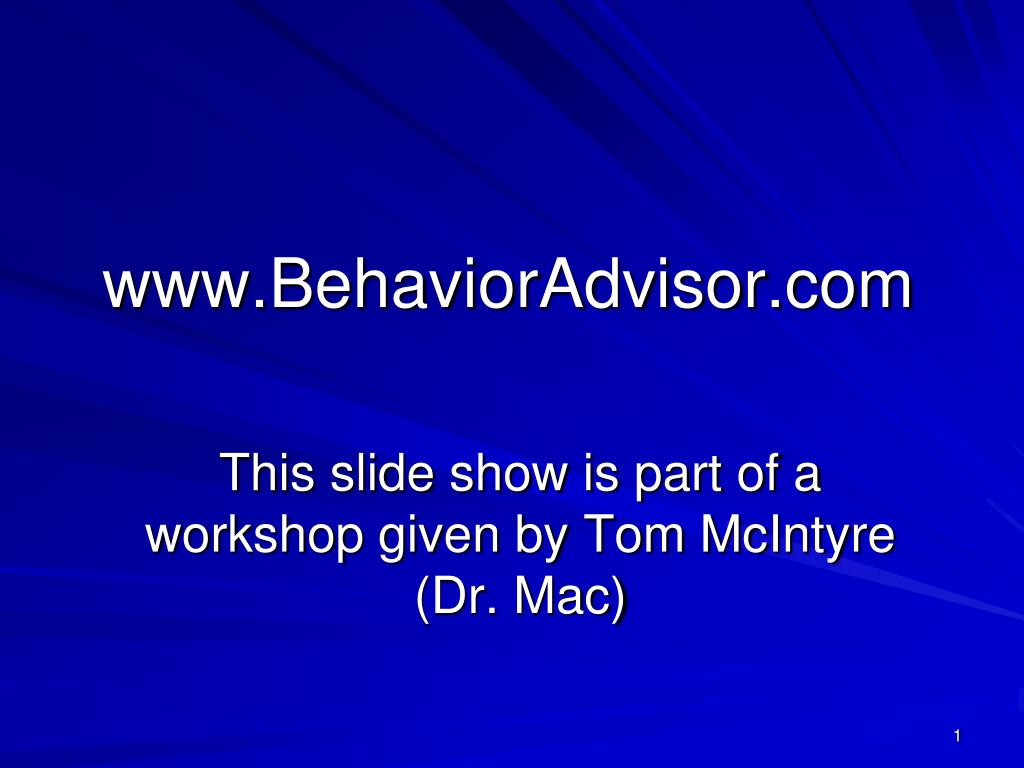 www.BehaviorAdvisor.com