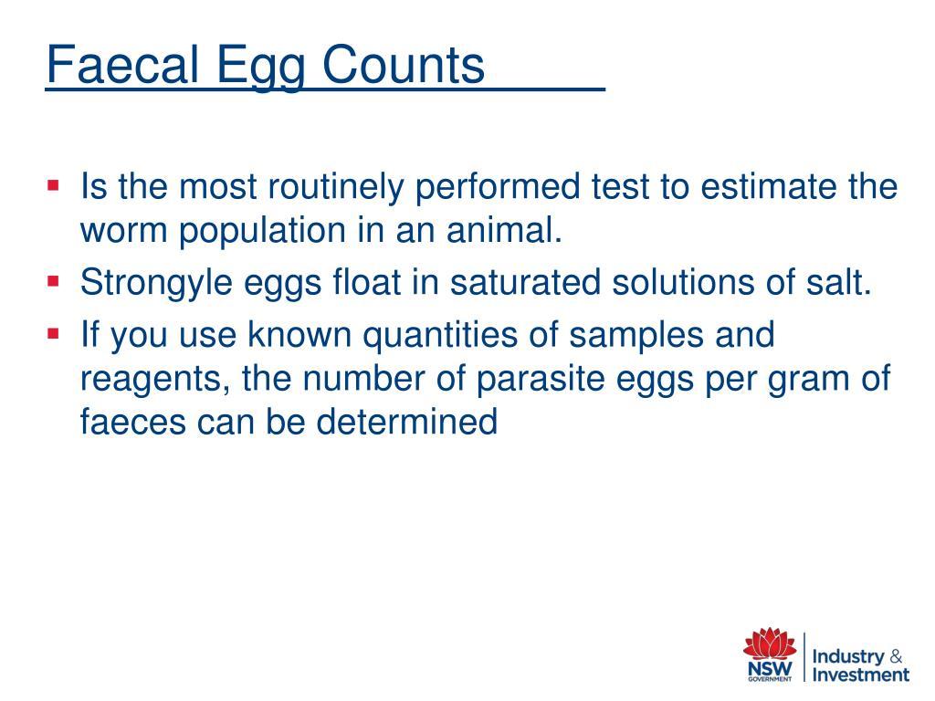Faecal Egg Counts