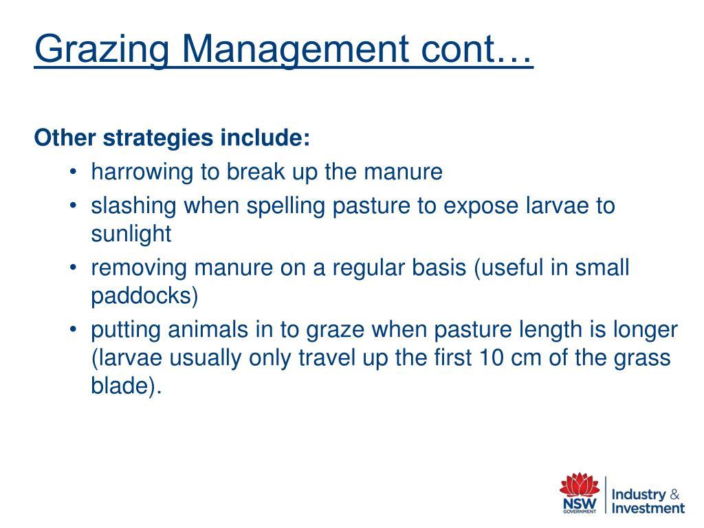 Grazing Management cont…