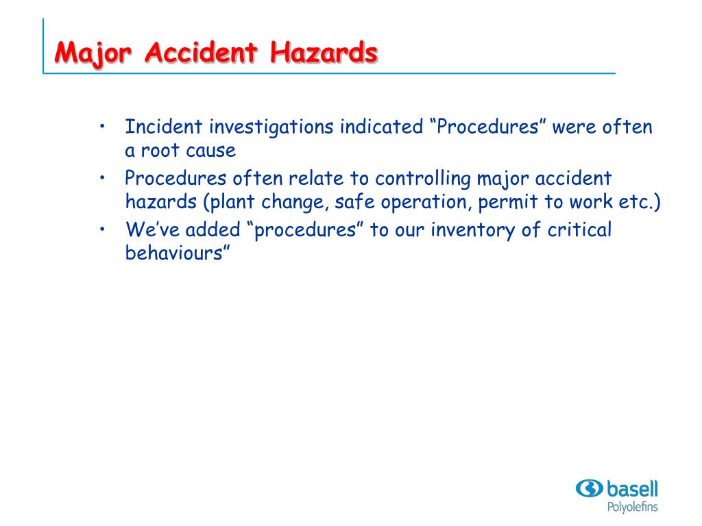 Major Accident Hazards