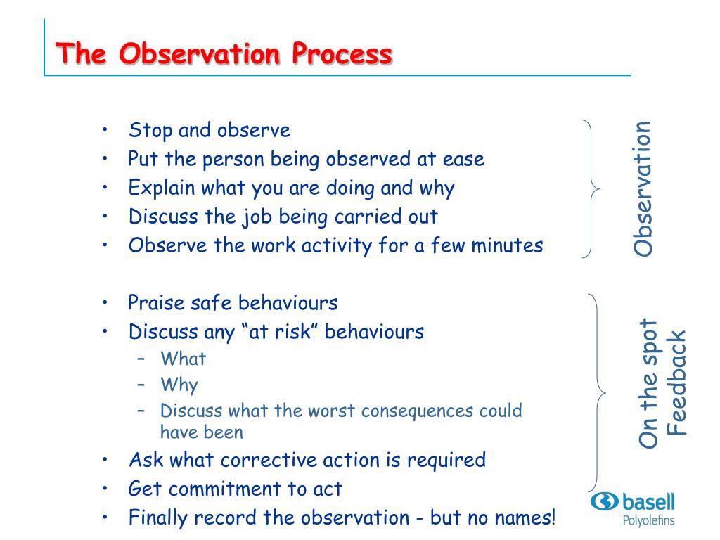 The Observation Process