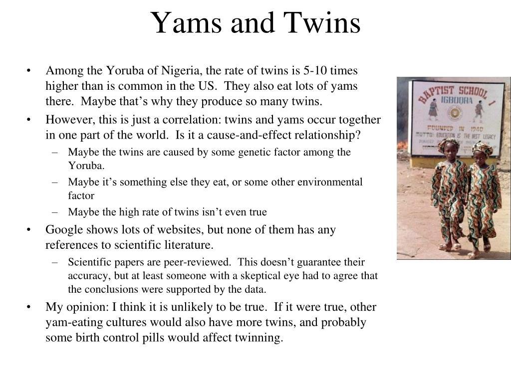 Yams and Twins
