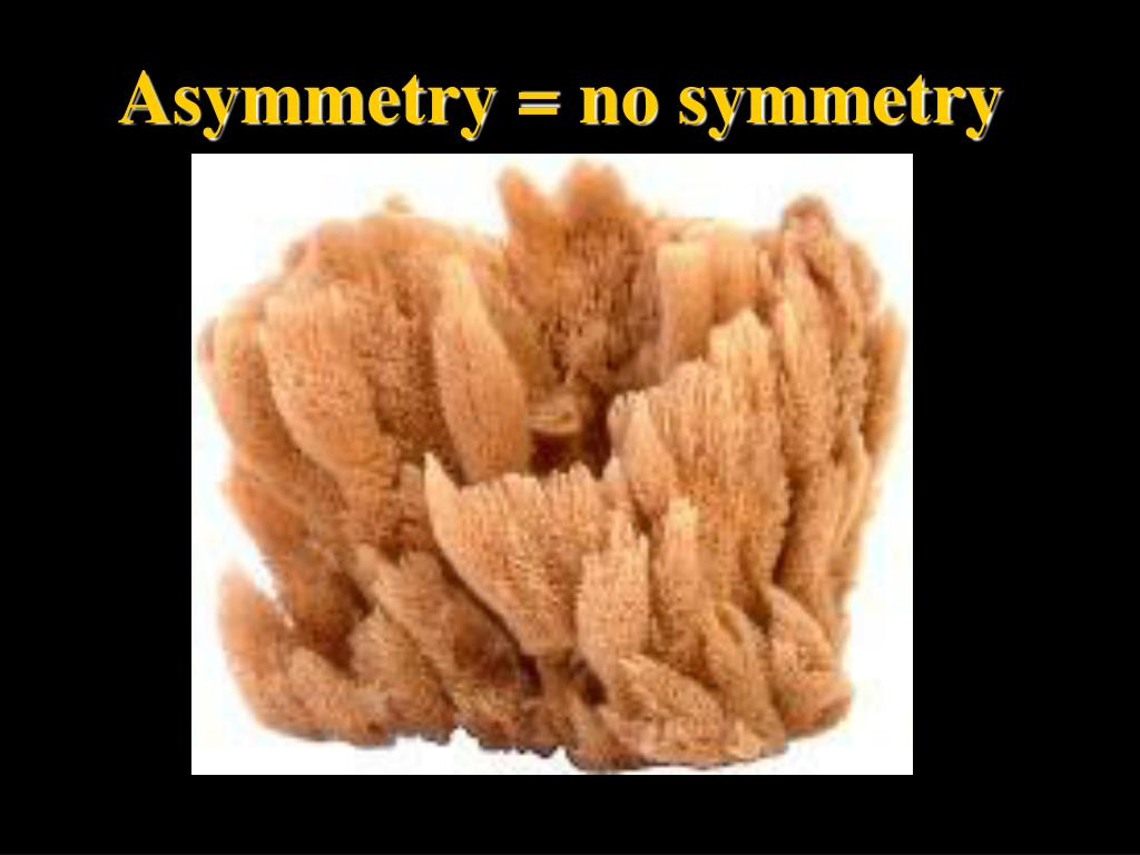 Asymmetry = no symmetry