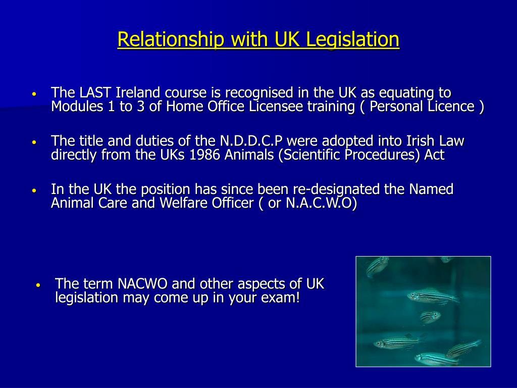 Relationship with UK Legislation